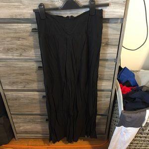 TOBI Black Maxi Skirt Medium with side slit